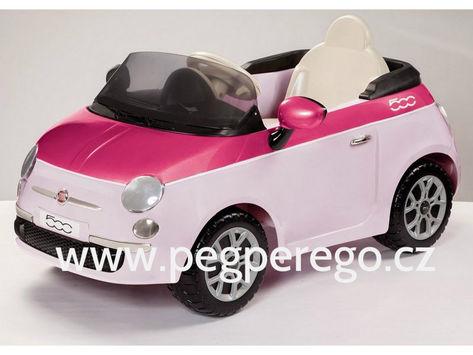 Fiat 500 6V růžový