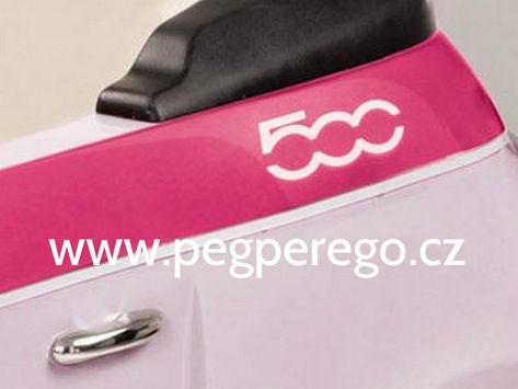 Fiat 500 6V růžový 8