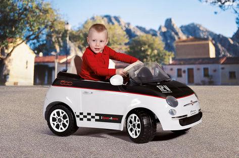 FIAT 500 černo-bílý, 12V 1