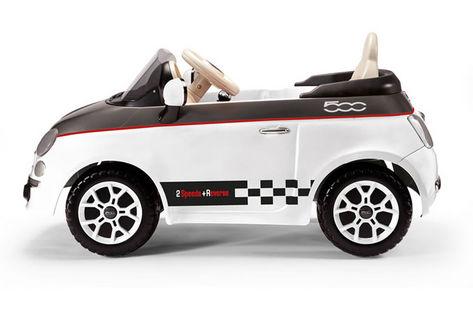 FIAT 500 černo-bílý, 12V 2